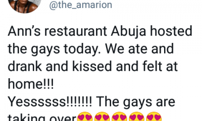 """""""The gays are taking over"""" – Nigerian lesbian declares after an LGBT gathering in Abuja where they """"ate, drank and kissed"""" (video)"""