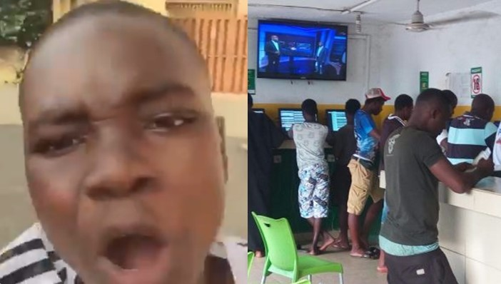 Boy laments after winning money for the first time on Bet9ja