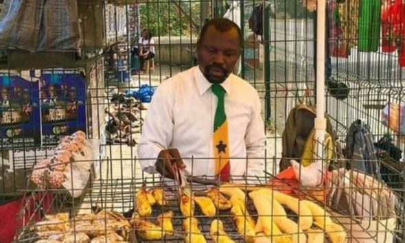 Man goes viral after being spotted rocking clean white shirt and tie