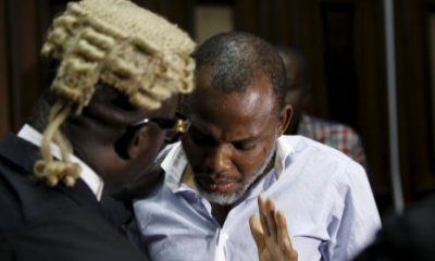 Nnamdi Kanu Makes U-Turn, Sues FG, Others For N5bn, Over Violation Of His Human Rights