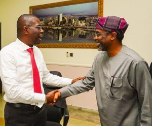 You're Doing Well, Gbajabiamila Says As He Endorses Sanwo-Olu For Second Term