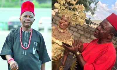 Chiwetalu Agu allegedly steps out again in Biafra outfit